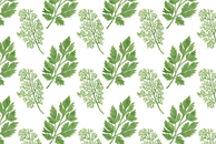 Dill and Parsley Watercolor Pattern by Haidi Shabrina