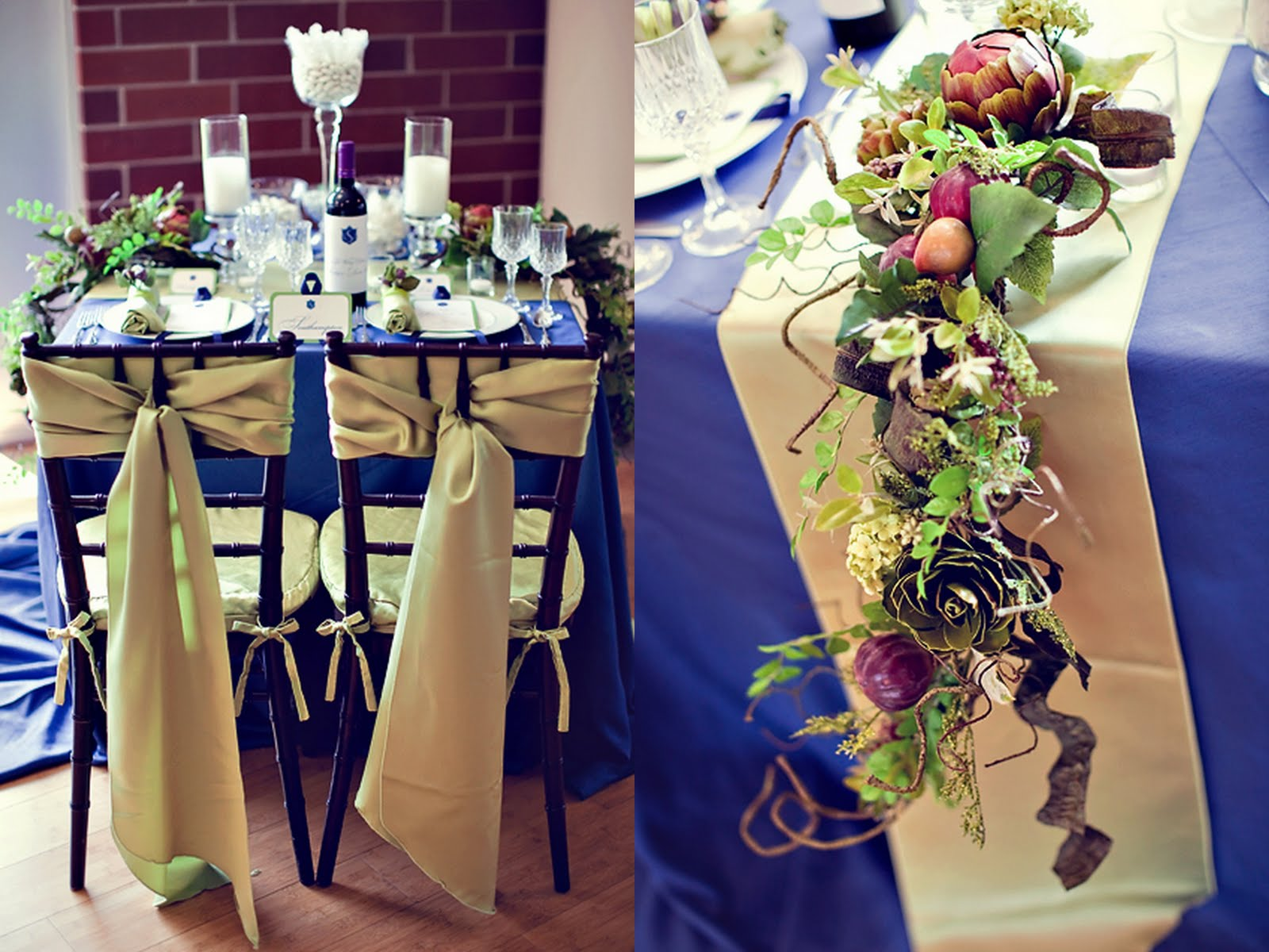Summer wedding idea an elegant blue and gold wedding for Deco rouge et turquoise