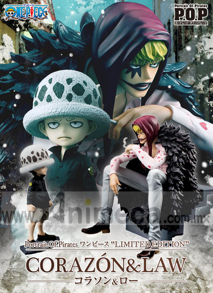Figuras Corazón & Law Portrait.Of.Pirates Limited Edition One Piece MEGAHOUSE