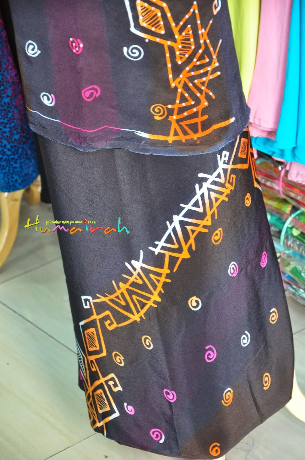 Batik Sutera Handmade Abstrack Hitam Siap Batu 9