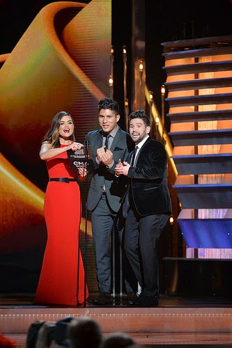 Lucy Hale and Dan+Shay CMA Awards 2014