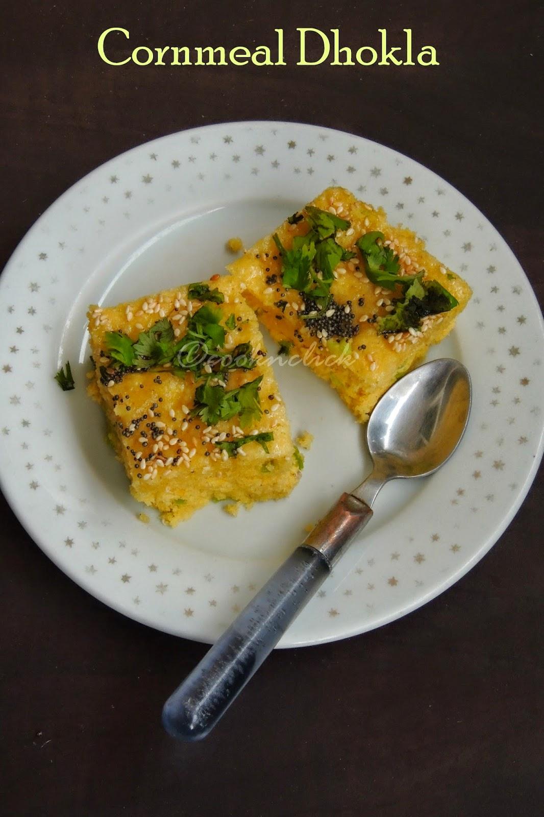 Makka ka atta dhokla, cornmeal dhokla
