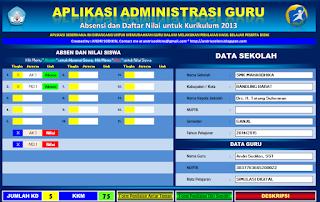 Aplikasi Administrasi Guru Dan Nilai Kurikulum 2013 SMA/SMK