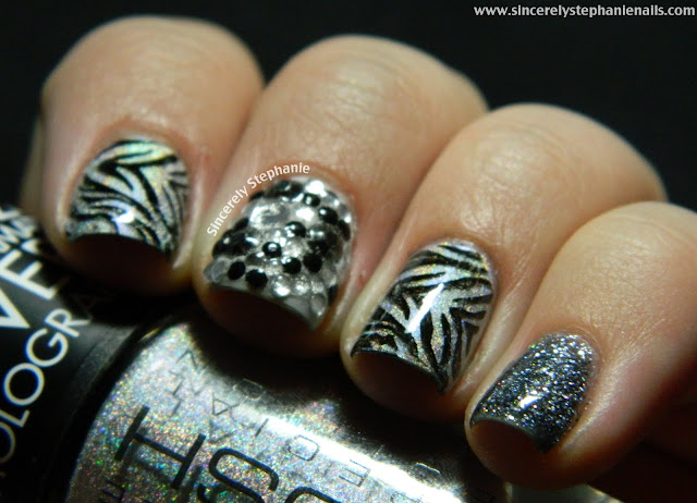 zebra nail art