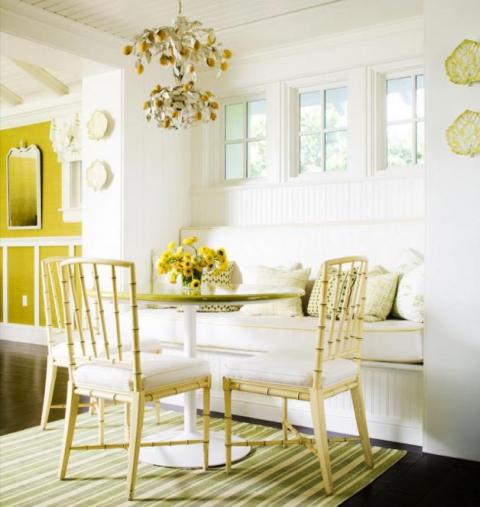 banquette can fit almost anywhere. Pull up a table, a rug and a ...