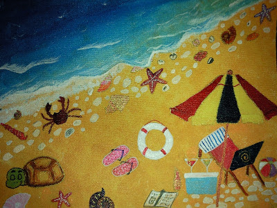 Fun on the beach painting