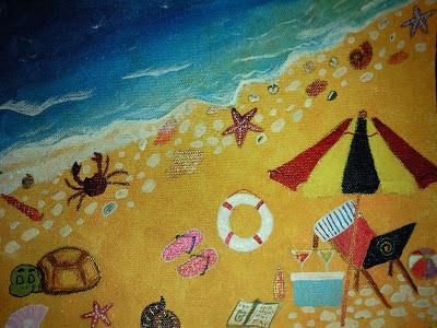 Fun on the beach painting