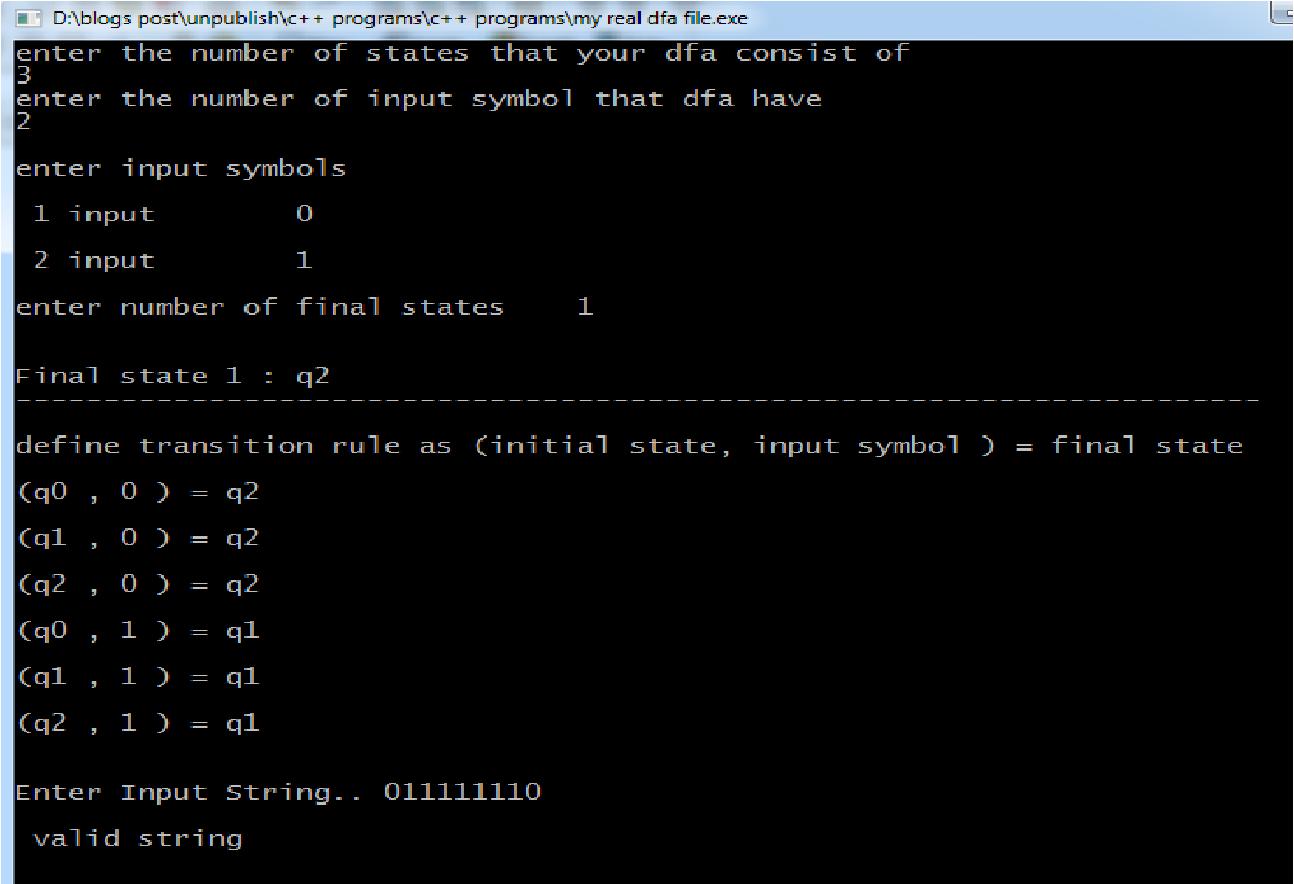 C C Programs C Program To Implement Dfa