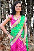 Pujitha sizzling in half saree-thumbnail-13