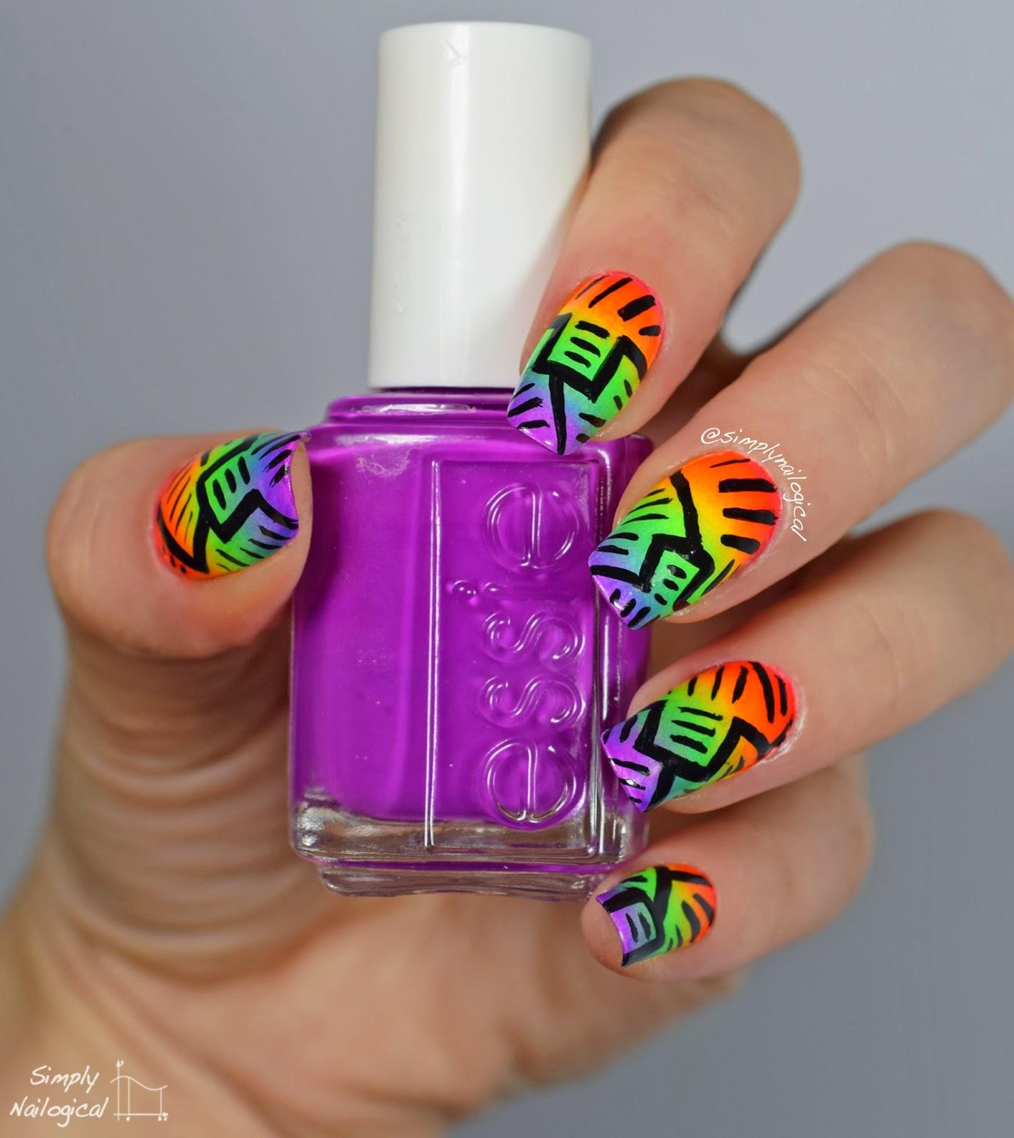Simply Nailogical: Ermahgerd rainbow gradient recreation