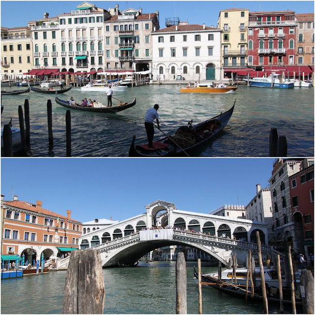 Rialto Bridge at Grand Canal in Venice, Italy