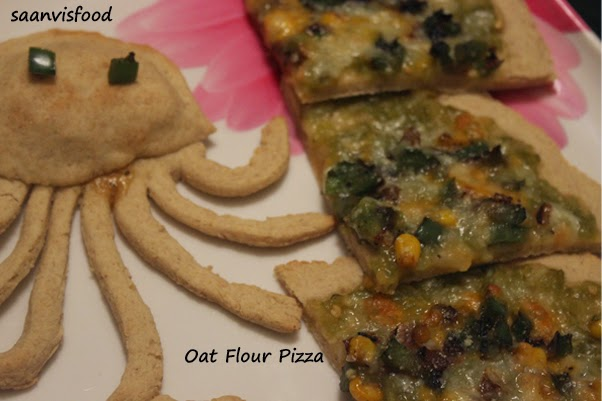 Oat Flour Pizza And Funny Octopus Shaped Mini Pizza