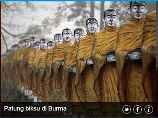 inovLy media : Patung Biksu di Burma