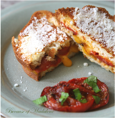 Because of Madalene: Roasted Tomato Grilled Cheese Sandwich