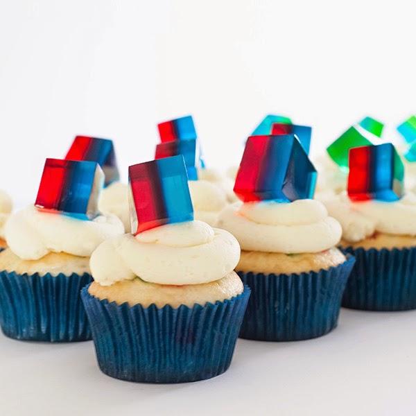 Znalezione obrazy dla zapytania jelly decorations cupcake