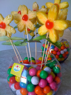 Centerpieces with Pineapple, Part 2