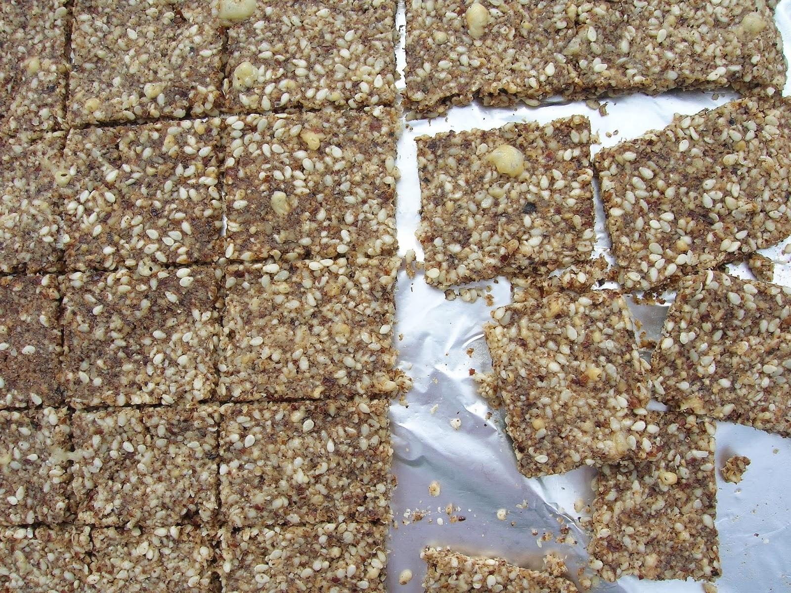 Gluten Free Sesame Pecan Crackers, grain free, low carb | Skinny GF ...