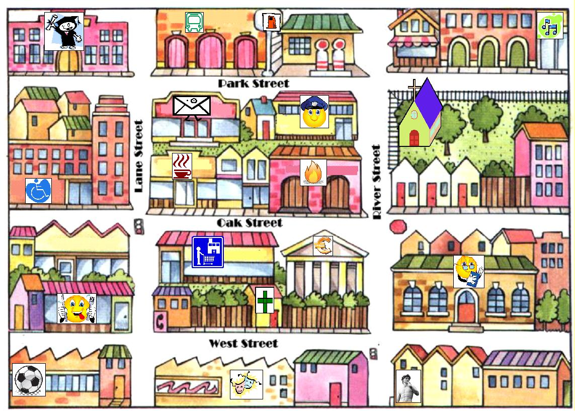 Rosanas English Blog My Town Poster - Town map for kids