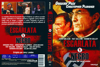Caratula, Cover, Dvd: Escarlata y negro | 1983 | The Scarlet and the Black