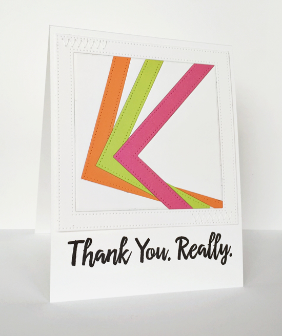 Really, Card by Jill Dewey Hawkins featuring the Thanks so Very Much stamp set and Pierced Square Frames Die-namics #mftstamps