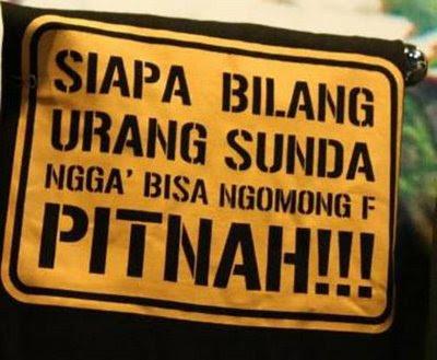 Siapa Bilang Urang Sunda teu Bisa Ngomong F? :: Gambar Bodor BBM