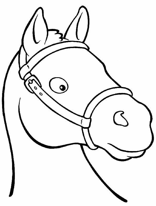 Dibujos animados para colorear: Dibujos de caballos para ...