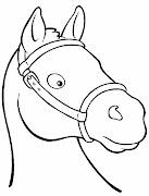 Dibujos animados para colorear: Dibujos de caballos para colorear