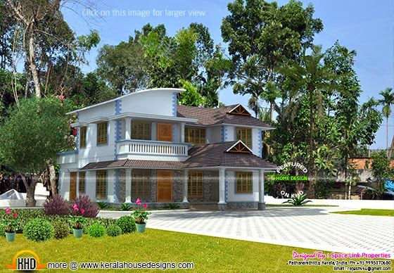 3d house rendering final view