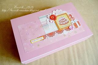 скрап-коробка, для хранения детского альбома