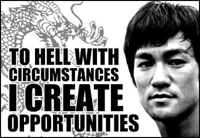 Bruce Lee quotes, create opportunities, martial arts, dragon,