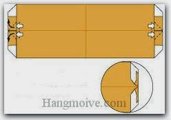 Bước 7: Mở các lớp giấy, kéo và gấp ra phía ngoài.