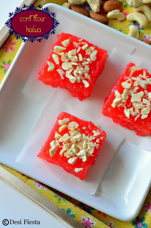 How to make corn flour halwa