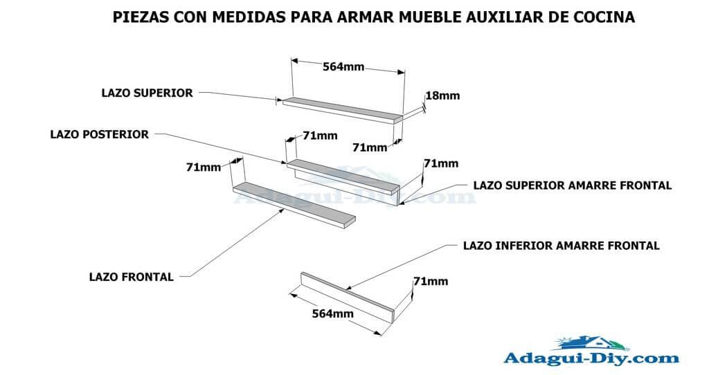 Planos de muebles como hacer muebles de cocina mueble for Planos muebles de cocina para armar