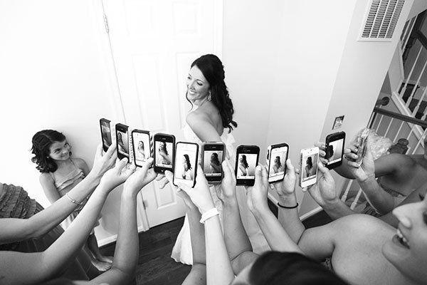 невеста с подружками на свадьбе