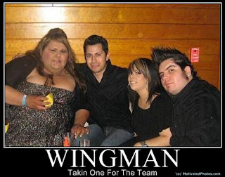 wingman - sometimes you have to take one for the team. auch bei hässlichen frauen.
