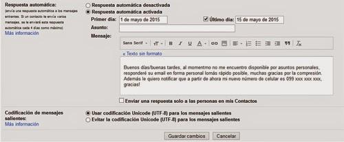 como crear una respuesta automática en gmail correo