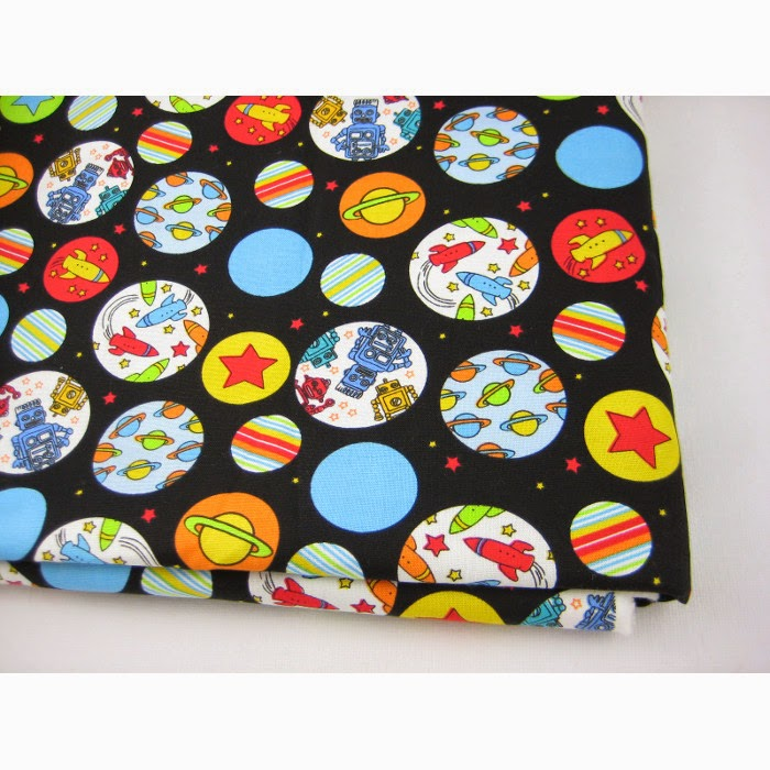 Space cotton fabric baby kids quilting fabric 1 2 yard ebay for Space baby fabric