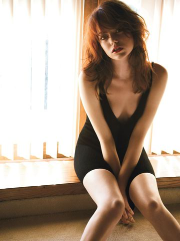 Sexiest Women Alive of November 2012 Emma Stone in Black