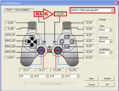 Cara Setting Joystick Emulator PS1