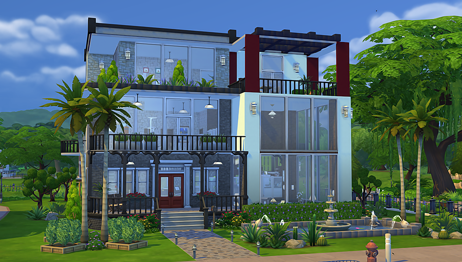 My Sims 4 Blog Modern Green House By Vicky