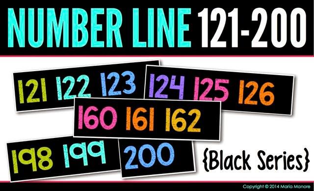 Number Line 121-200 Black Series