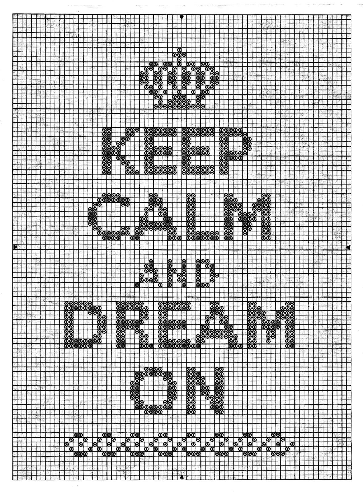 punto croce keep calm