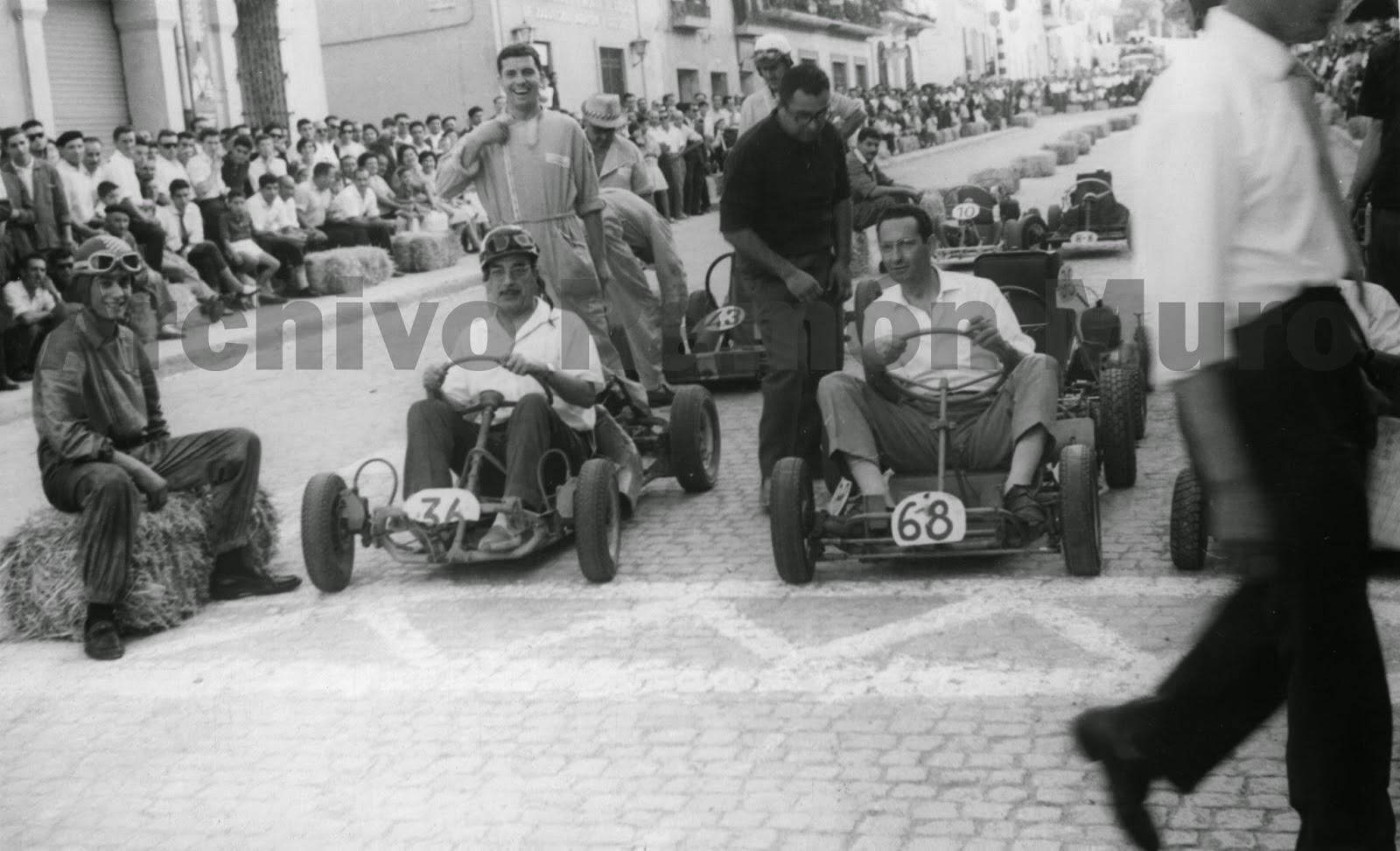 Carrera de Cars en las Fiestas Mayores de Binéfar de 1961