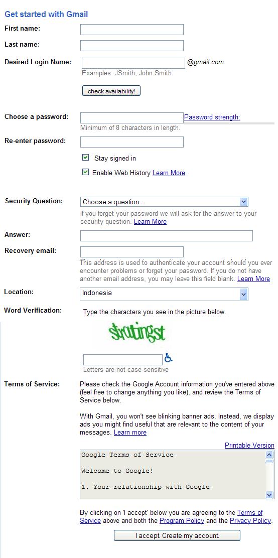 tips membuat email, cara membuat email, langkah membuat email