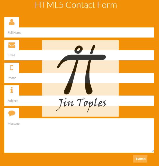 Cara Membuat Contact Form Keren Dengan HTML5   Jin Toples Programming