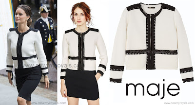 Princess Sofia Hellqvist wore Maje Magistral Short Cardigan.