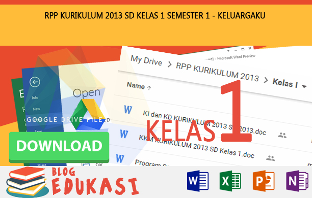 RPP KURIKULUM 2013 SD KELAS 1 SEMESTER 1 - Keluargaku Revisi 2015