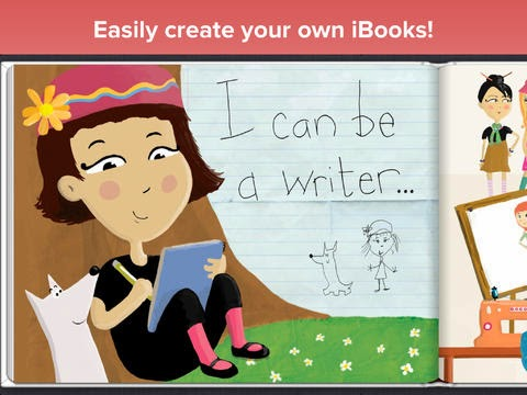 example of a page from an iBook created by a student