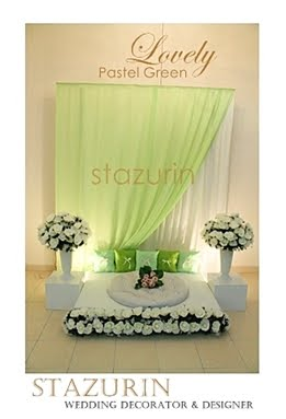 Pelamin Mini Eksklusif Pertunangan/Engagement/Pernikahan Pelamin Warna Lovely Pastel Green