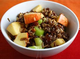 Weight Loss Recipes : Wild Rice Salad with Apples and Dried Cherries